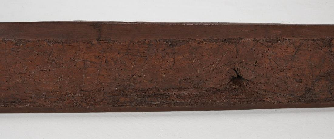 A EARLY 18TH / EARLY 19TH CENTURY PRIMITIVE BENCH - 9