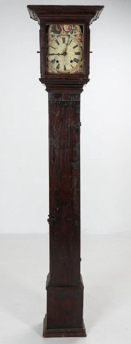 AN EARLY 19TH C PAINTED TALL CLOCK 72 INCHES HIGH - 2