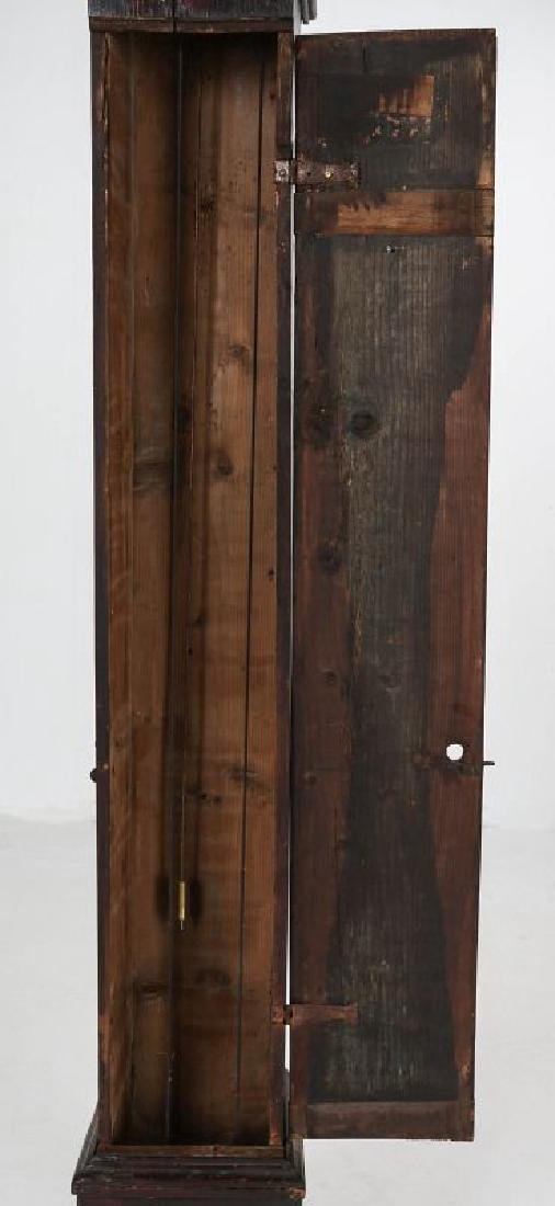 AN EARLY 19TH C PAINTED TALL CLOCK 72 INCHES HIGH - 4