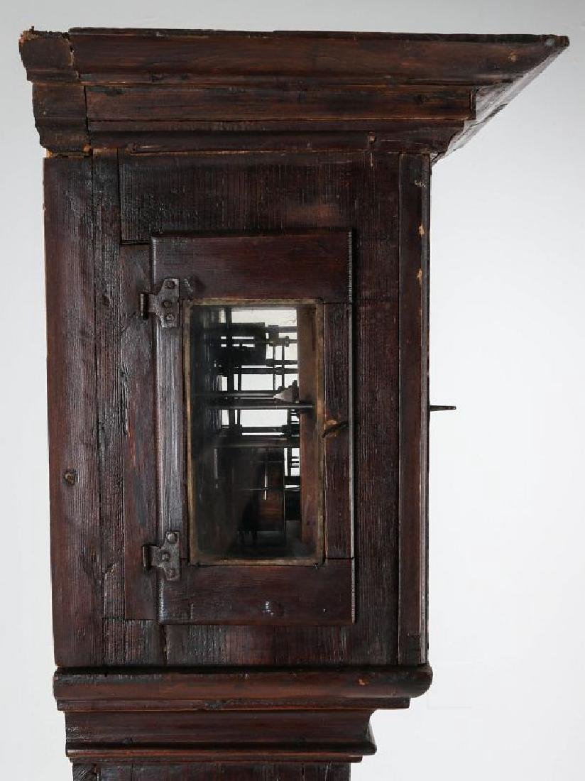AN EARLY 19TH C PAINTED TALL CLOCK 72 INCHES HIGH - 7