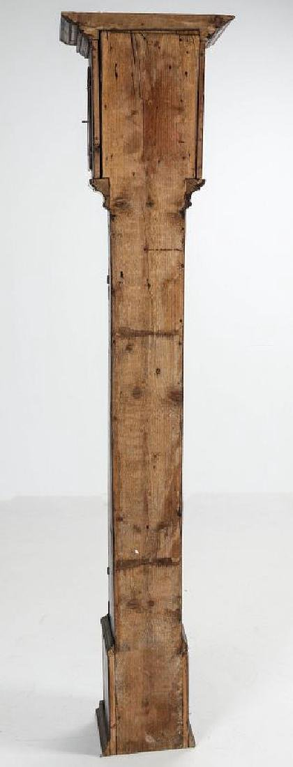AN EARLY 19TH C PAINTED TALL CLOCK 72 INCHES HIGH - 9