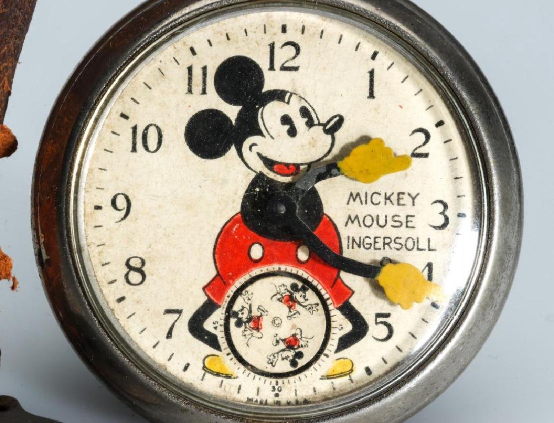 CIRCA 1933 INGERSOLL MICKEY MOUSE WATCH AND FOB - 2