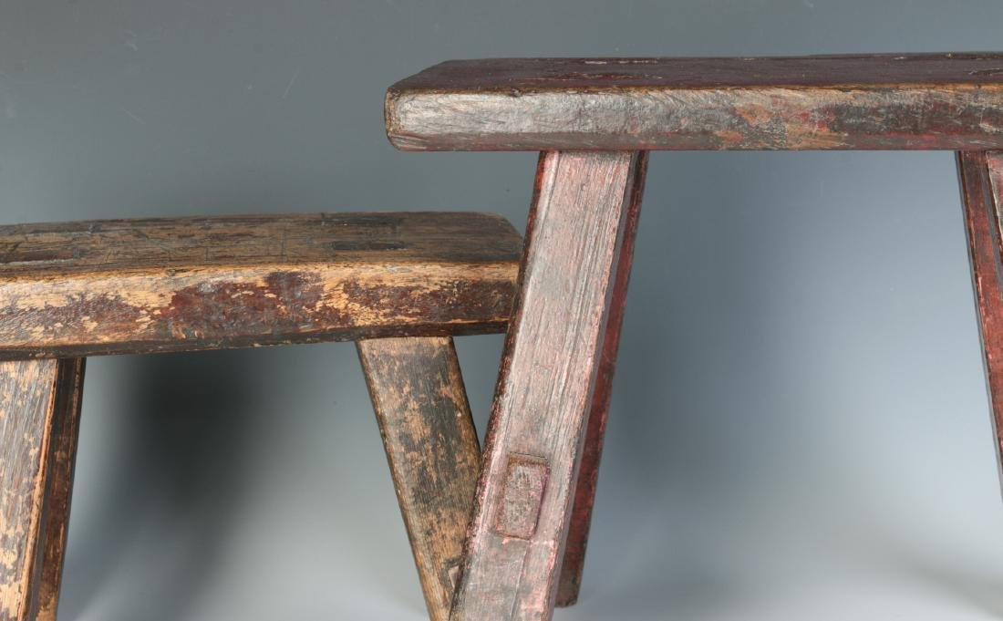 TWO GOOD EARLY 19TH CENTURY CRICKET STOOLS - 2