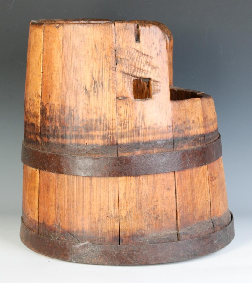 AN UNUSUAL 19TH CENTURY STAVE CONSTRUCTION BUCKET - 2