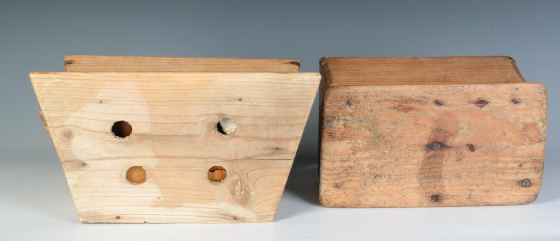 TWO 19TH CENTURY PINE WALL HANGING SOAP BOXES - 8