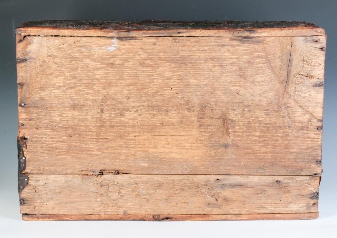 A CIRCA 1800 LEATHER COVERED DOMETOP BOX - 8