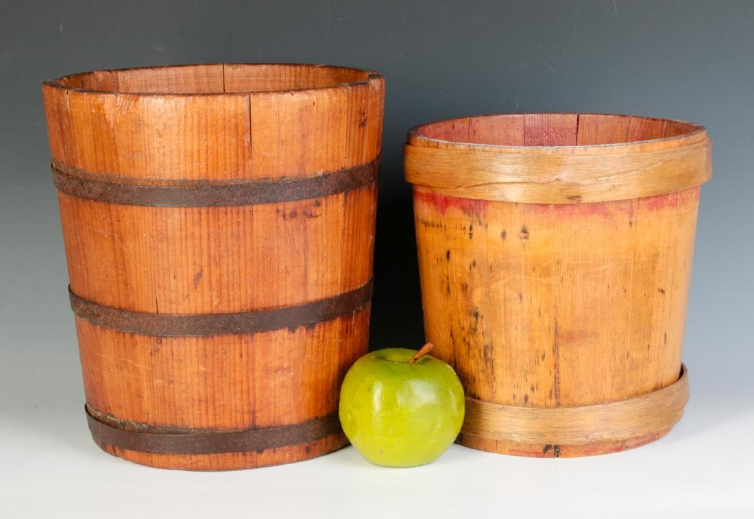 TWO 19TH CENTURY STAVE CONSTRUCTION CONTAINERS - 5