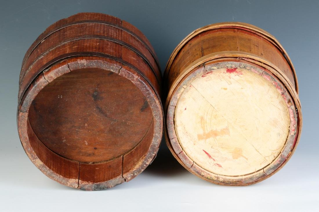 TWO 19TH CENTURY STAVE CONSTRUCTION CONTAINERS - 6