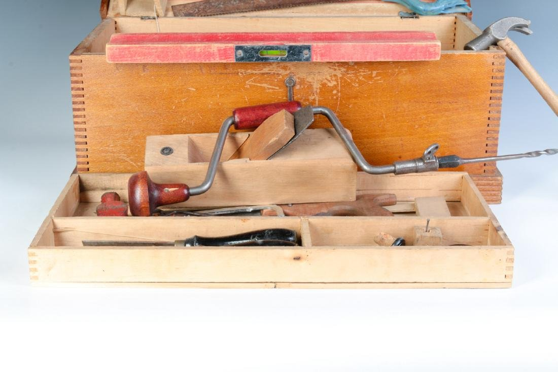 THE BOYS TOOL CHEST, WITH 'TOY' TOOLS, CIRCA 1930s - 11