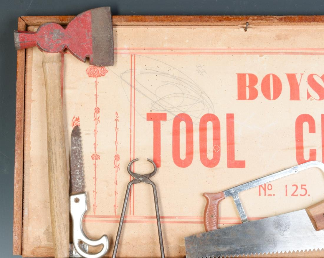 THE BOYS TOOL CHEST, WITH 'TOY' TOOLS, CIRCA 1930s - 2