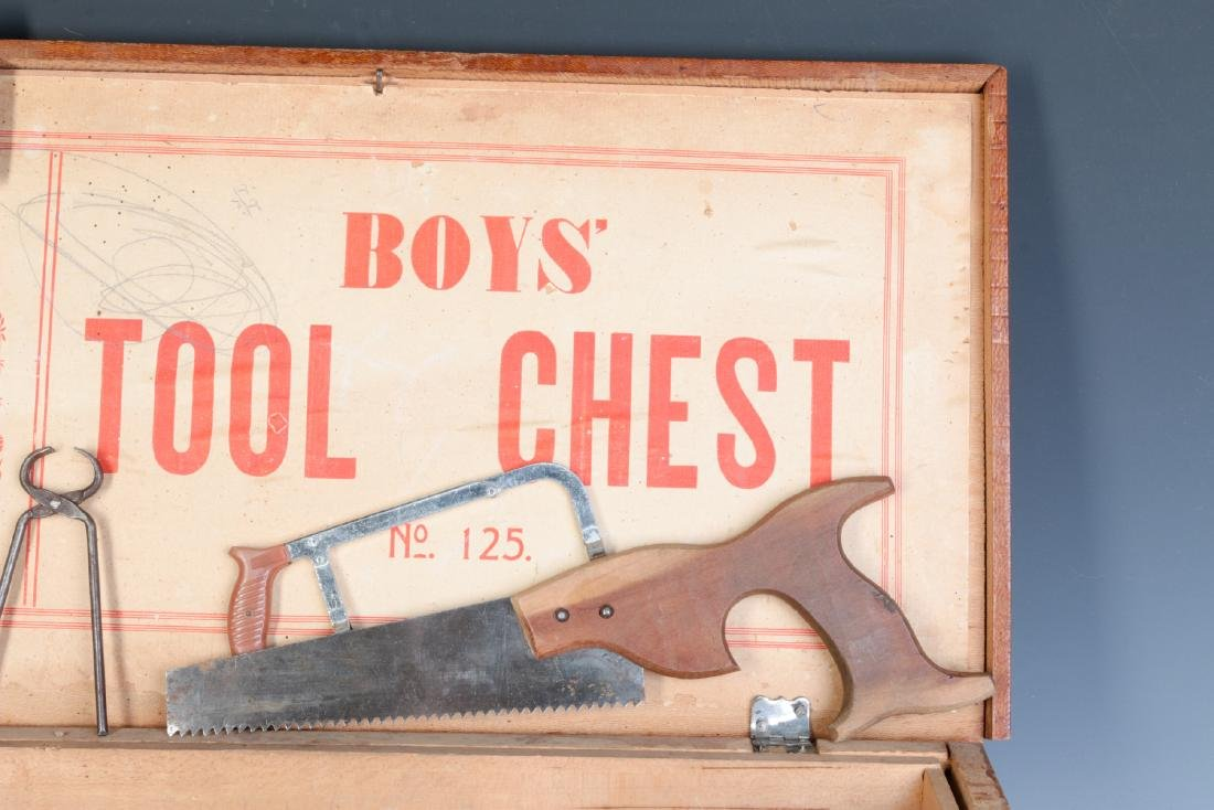 THE BOYS TOOL CHEST, WITH 'TOY' TOOLS, CIRCA 1930s - 3