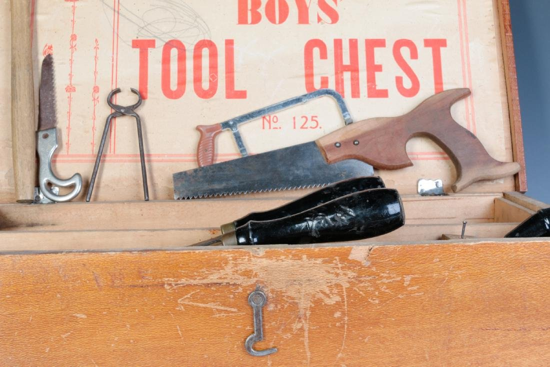 THE BOYS TOOL CHEST, WITH 'TOY' TOOLS, CIRCA 1930s - 4