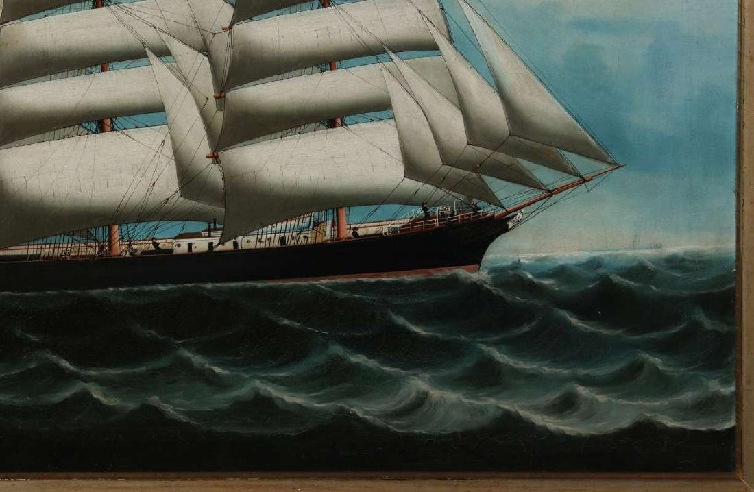 A GOOD 19TH CENTURY CHINA TRADE SHIP PORTRAIT - 5