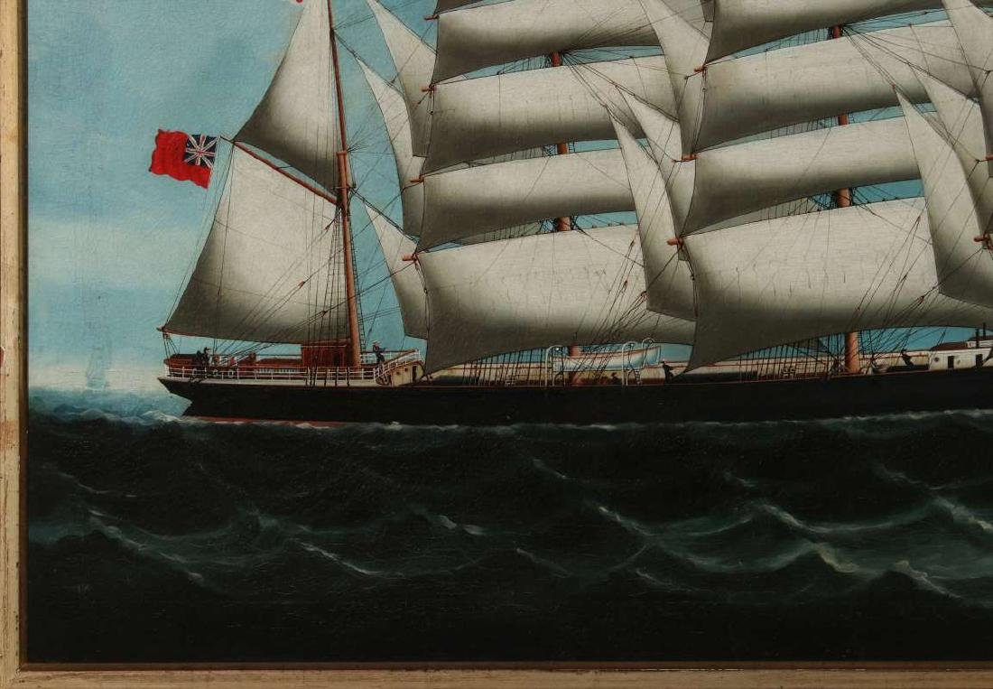 A GOOD 19TH CENTURY CHINA TRADE SHIP PORTRAIT - 6