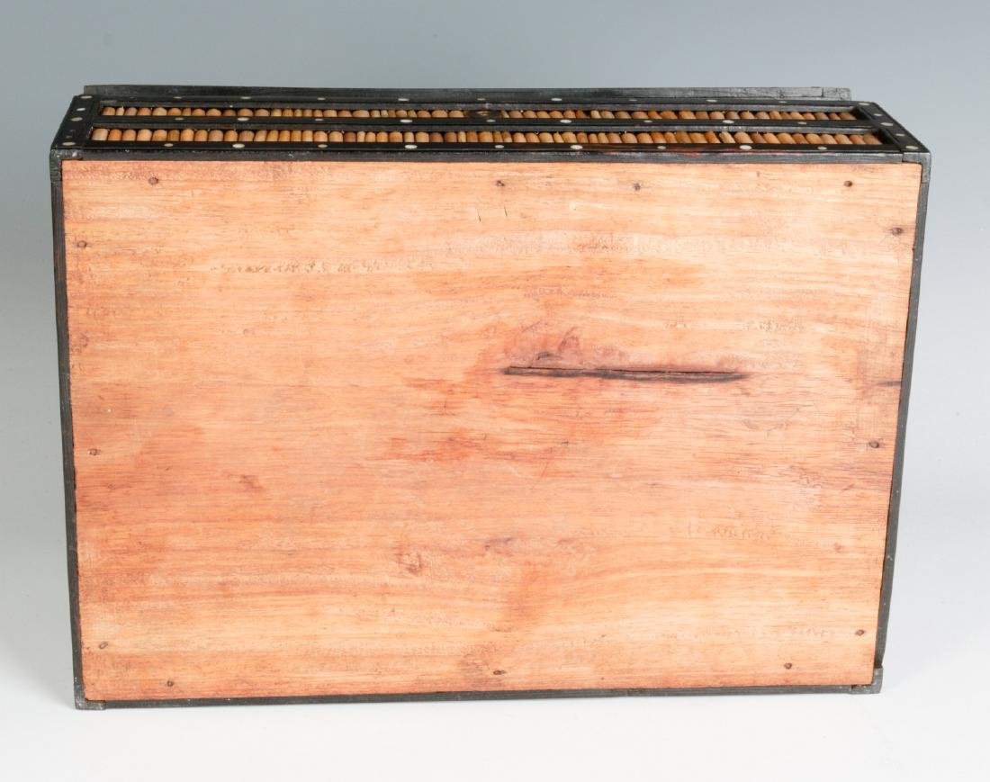 AN ANGLO-INDIAN QUILL BOX WITH DIVIDED INTERIOR - 9