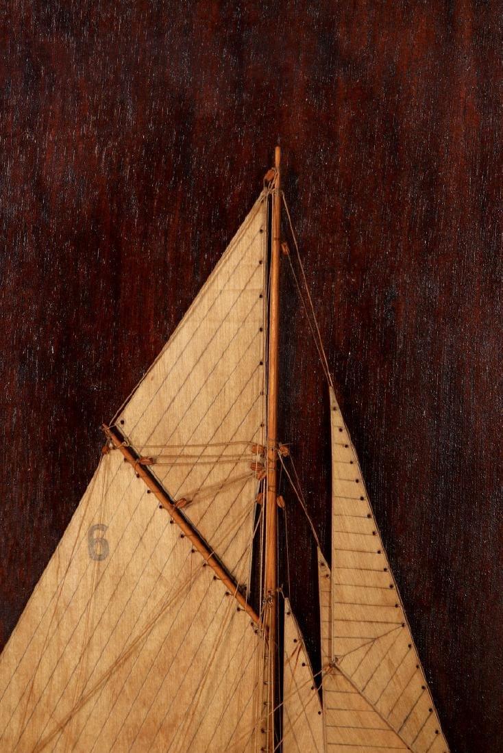 A FULL MAST HALF HULL SHADOW BOX SHIP MODEL, 1920 - 3