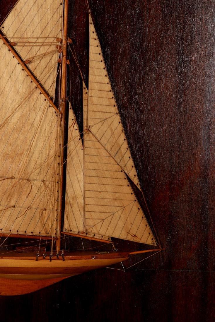 A FULL MAST HALF HULL SHADOW BOX SHIP MODEL, 1920 - 5