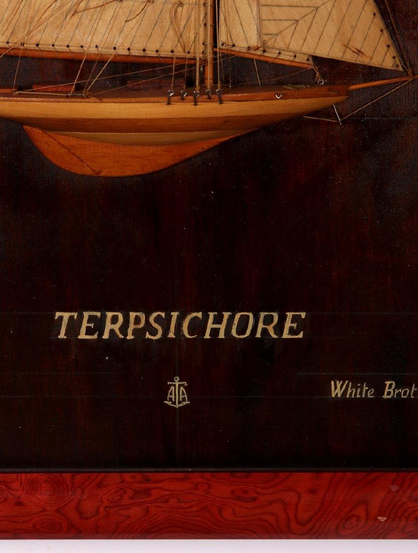 A FULL MAST HALF HULL SHADOW BOX SHIP MODEL, 1920 - 7