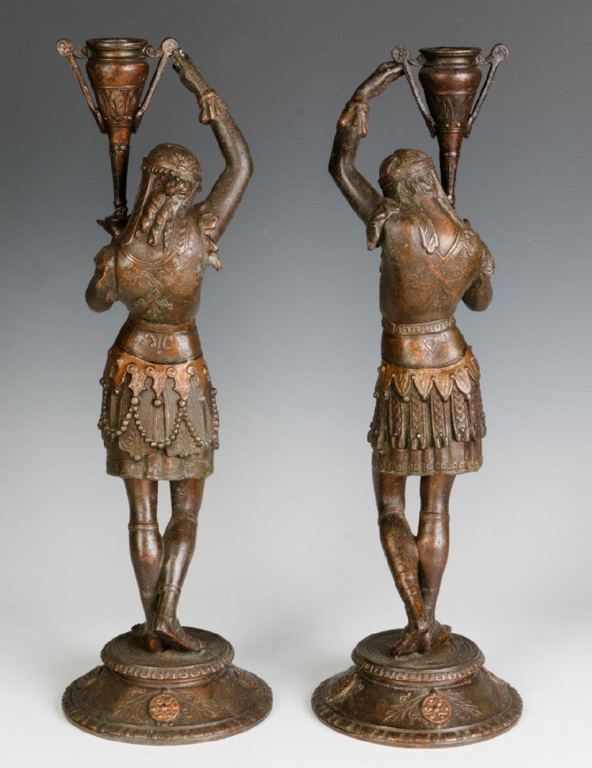 A PAIR 19TH C. EGYPTIAN REVIVAL PATINATED FIGURES - 5