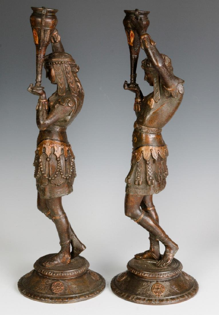 A PAIR 19TH C. EGYPTIAN REVIVAL PATINATED FIGURES - 6