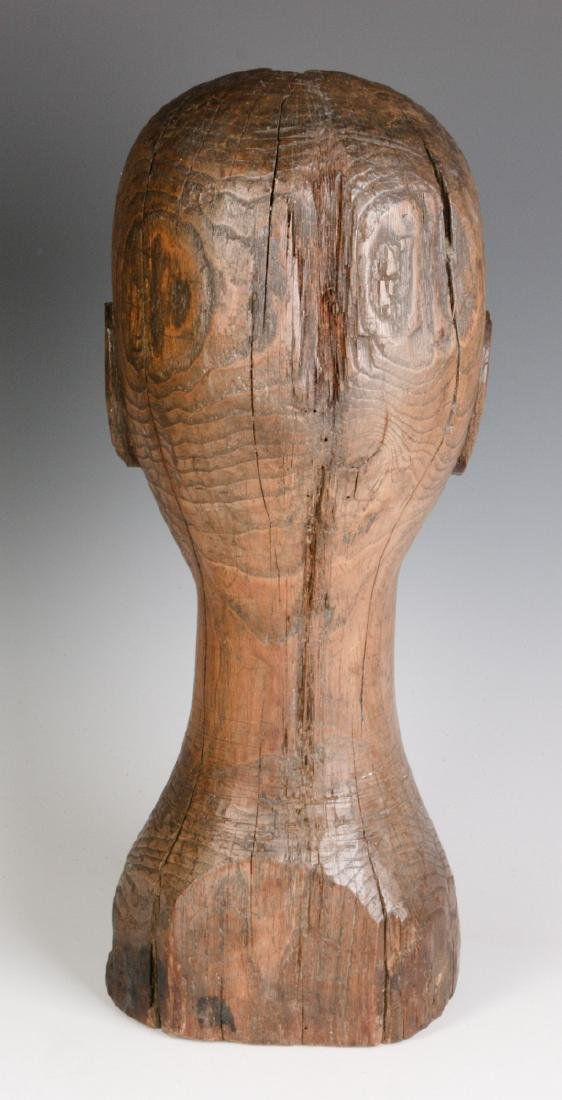 A GOOD 19TH CENTURY CARVED OAK WIG STAND - 4