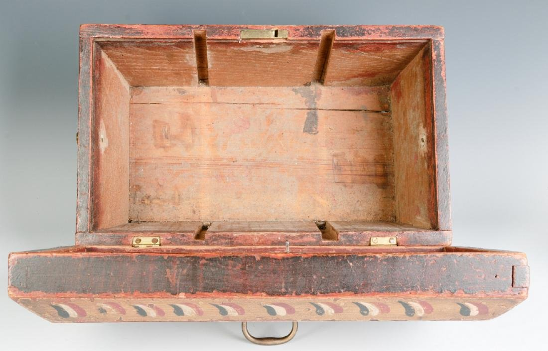 A NICE GRAIN PAINTED DOCUMENT BOX DATED 1831 - 10