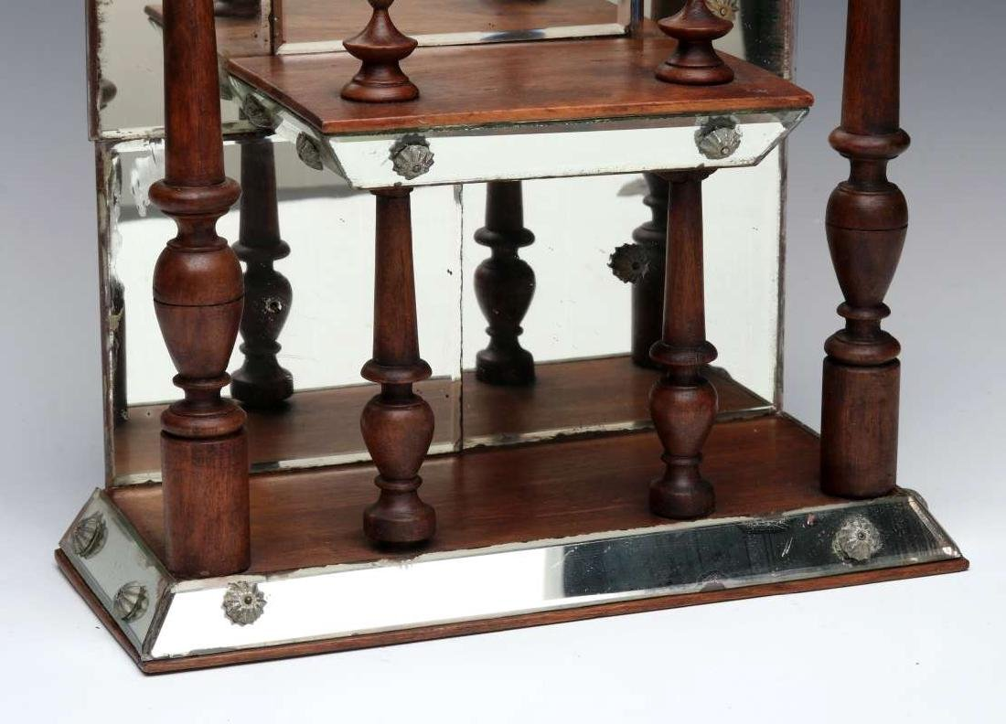 AN INTERESTING MIRRORED WHAT-NOT SHELF CIRCA 1875 - 5