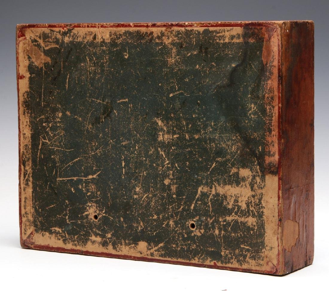 VICTORIAN LITHO ON WOOD BOXED BUILDING BLOCKS SET - 8