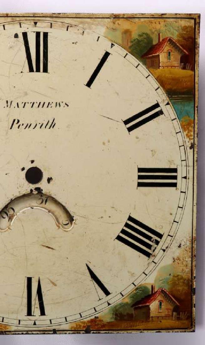 THREE EARLY 19TH C. PAINTED SHEET IRON CLOCK DIALS - 3