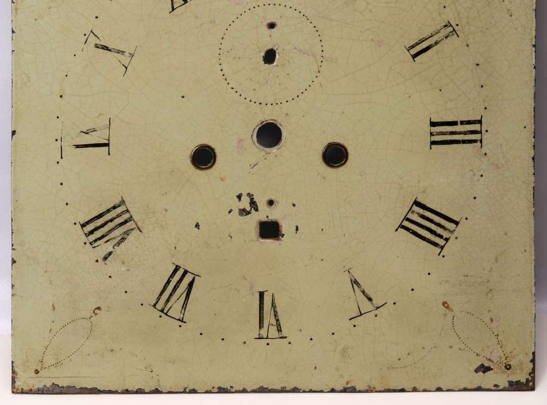 THREE EARLY 19TH C. PAINTED SHEET IRON CLOCK DIALS - 6