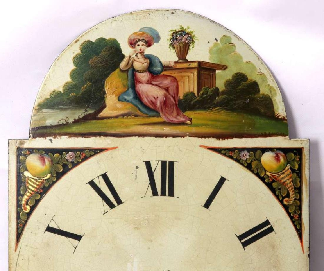THREE EARLY 19TH C. PAINTED SHEET IRON CLOCK DIALS - 8