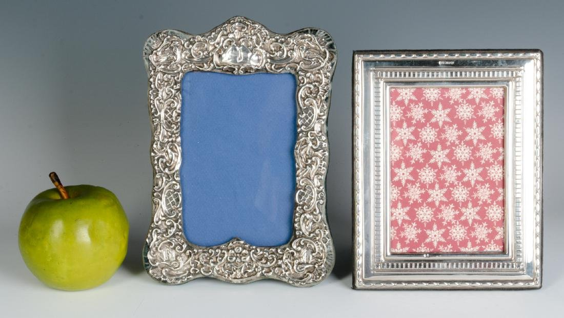 TWO STERLING SILVER EMBELLISHED PICTURE FRAMES - 4