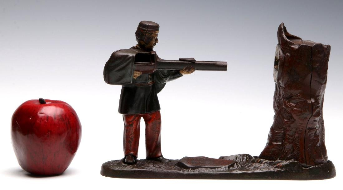 J. & E. STEVENS CREEDMOOR MECHANICAL BANK - 2