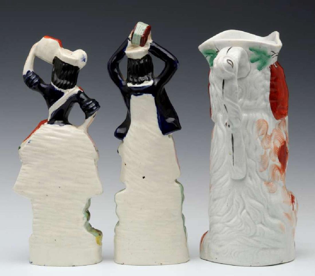THREE 19TH C. STAFFORDSHIRE POTTERY OBJECTS - 6