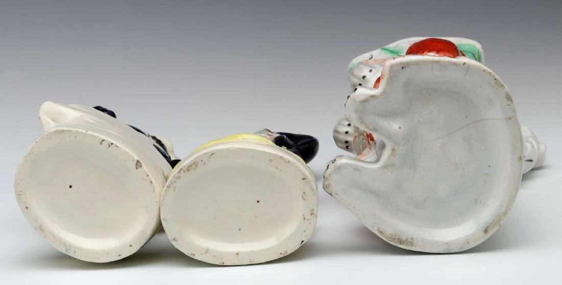 THREE 19TH C. STAFFORDSHIRE POTTERY OBJECTS - 8