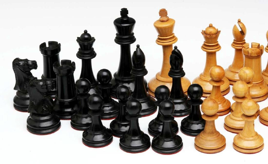 VINTAGE CARVED WOOD CHESS SETS, ONE STAUNTON TYPE - 2
