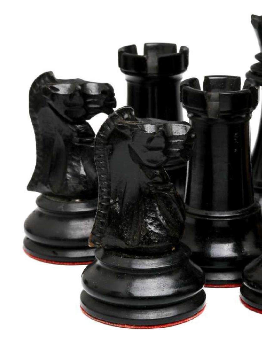 VINTAGE CARVED WOOD CHESS SETS, ONE STAUNTON TYPE - 7