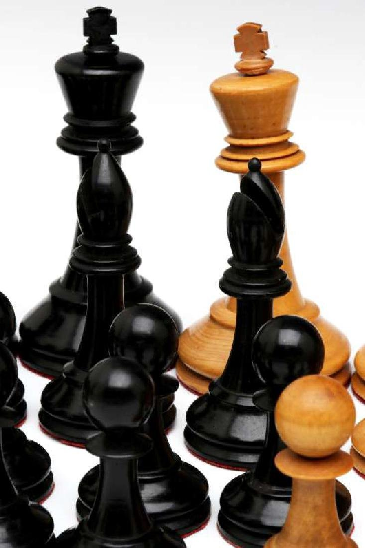 VINTAGE CARVED WOOD CHESS SETS, ONE STAUNTON TYPE - 8