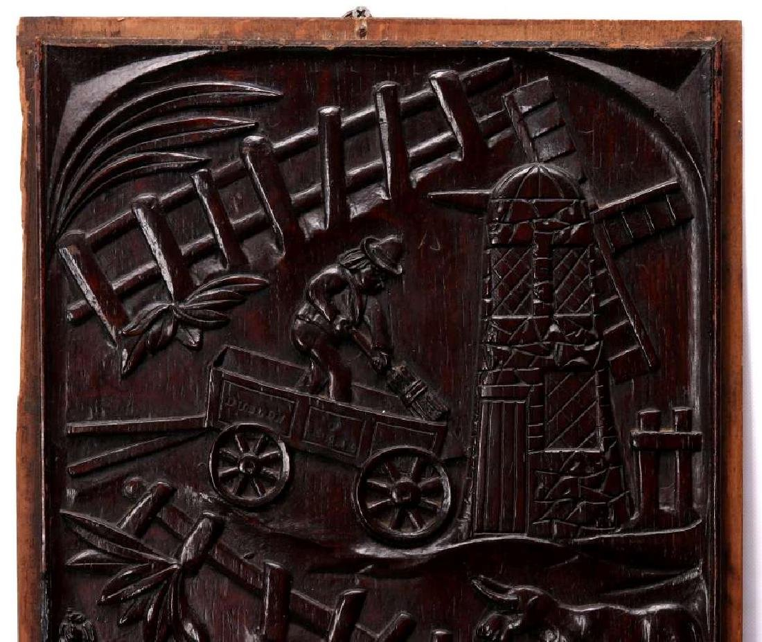 A PAIR IRISH 18TH CENTURY BAS RELIEF WOOD CARVINGS - 6