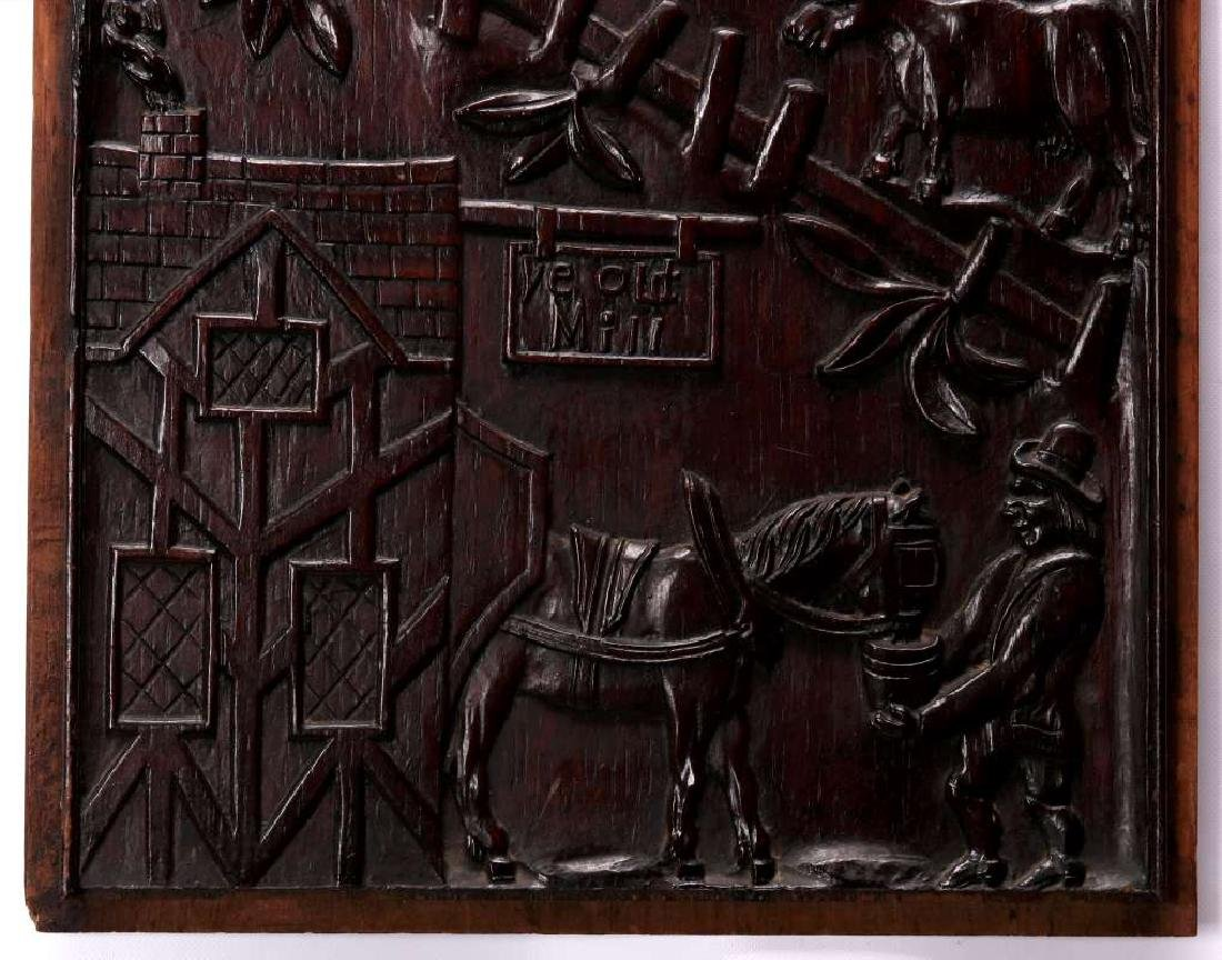 A PAIR IRISH 18TH CENTURY BAS RELIEF WOOD CARVINGS - 7