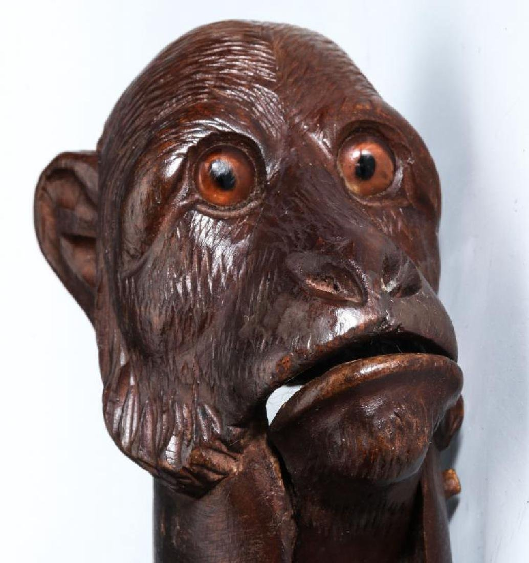 A GOOD CIRCA 1900 BLACK FOREST MONKEY NUT CRACKER - 3