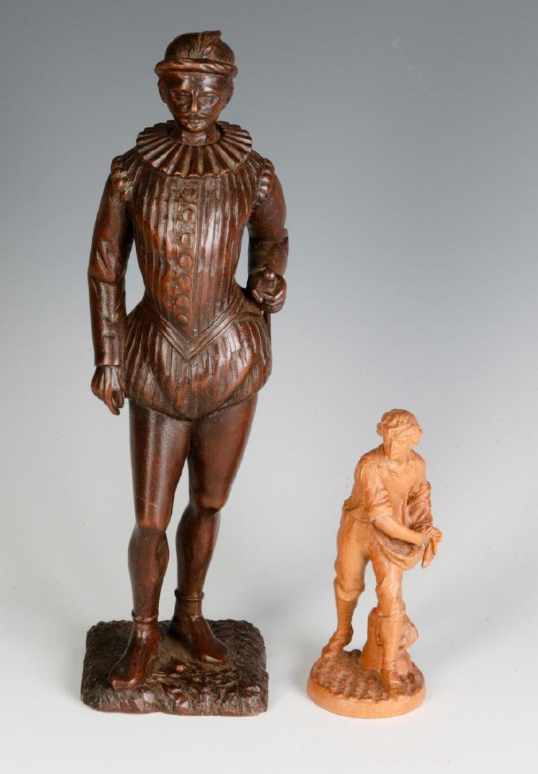 INTERESTING 19TH & 2OTH CENT CARVED WOOD FIGURINES