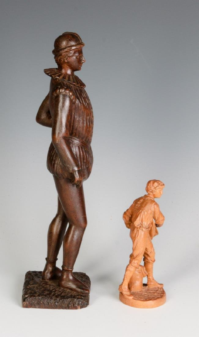 INTERESTING 19TH & 2OTH CENT CARVED WOOD FIGURINES - 4