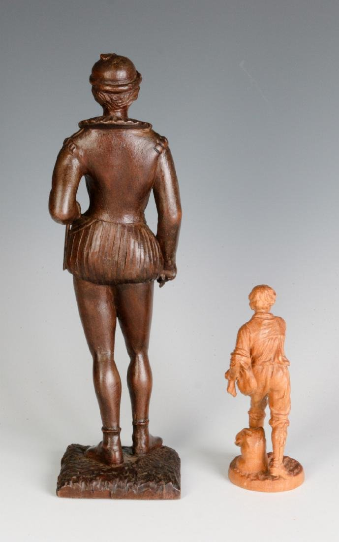 INTERESTING 19TH & 2OTH CENT CARVED WOOD FIGURINES - 6