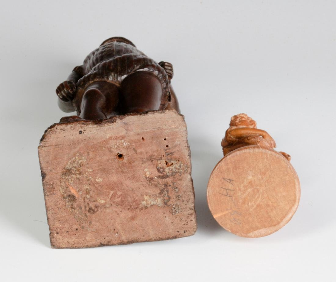 INTERESTING 19TH & 2OTH CENT CARVED WOOD FIGURINES - 9