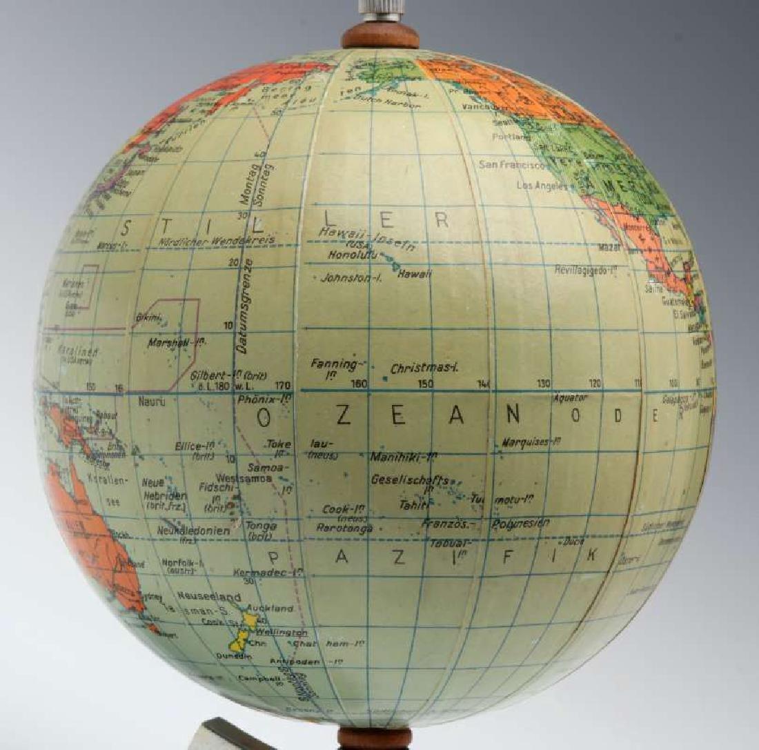 A MID 20TH C. GERMAN DESKTOP TERRESTRIAL GLOBE - 6
