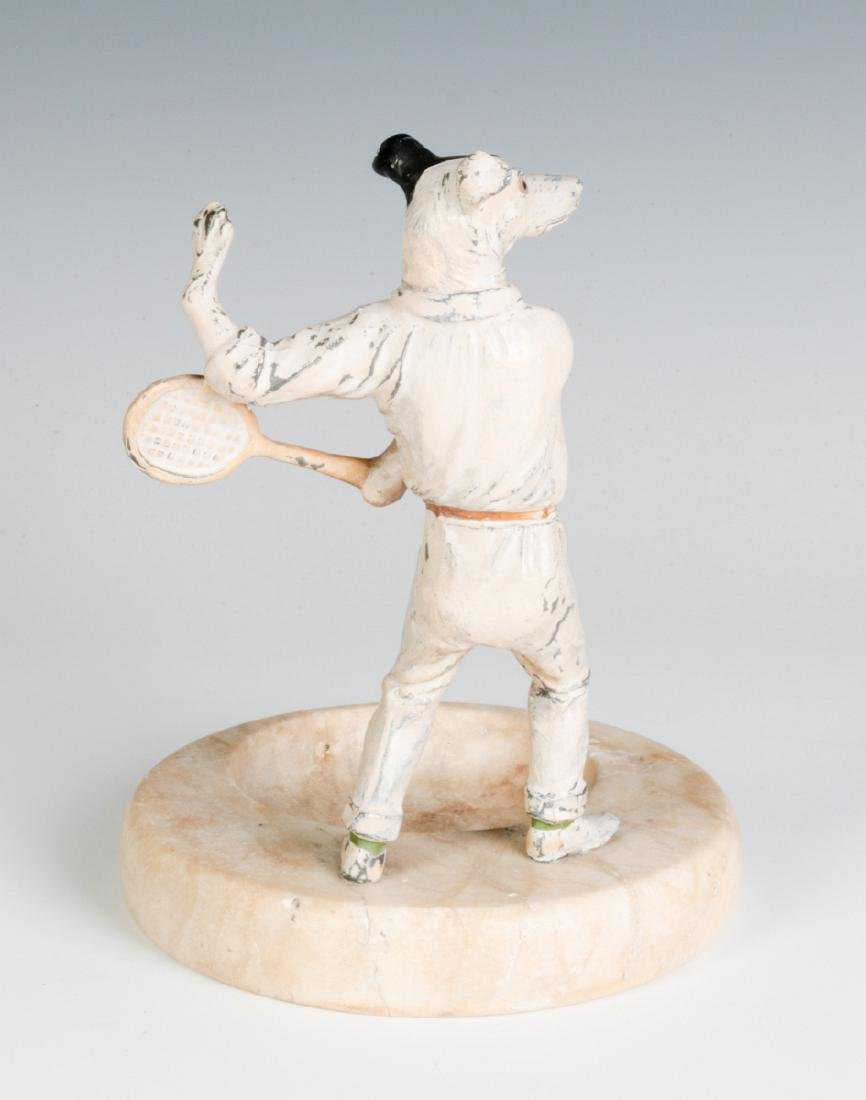 COLD PAINTED FIGURE OF TENNIS PLAYING DOG, C. 1920 - 3