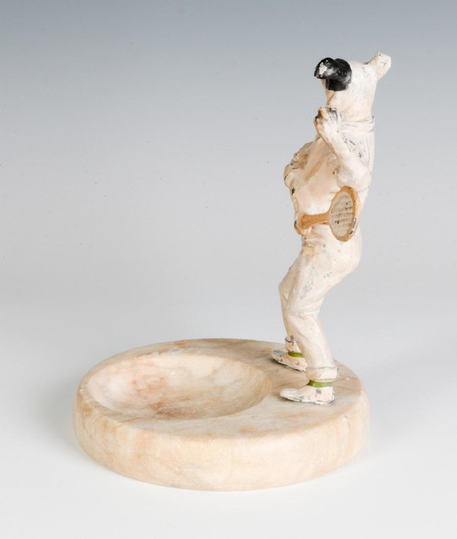 COLD PAINTED FIGURE OF TENNIS PLAYING DOG, C. 1920 - 4