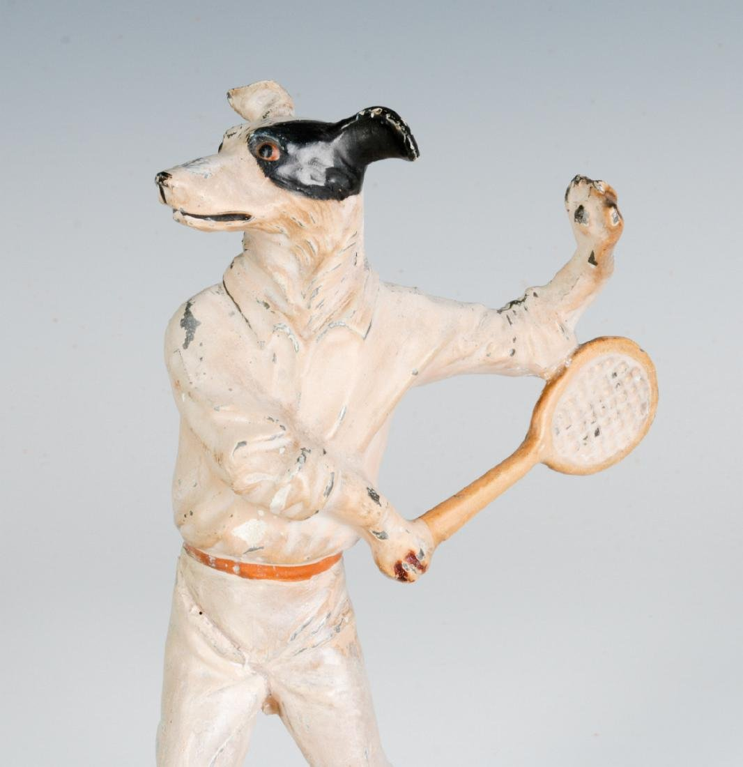COLD PAINTED FIGURE OF TENNIS PLAYING DOG, C. 1920 - 5