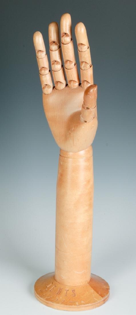 A DENTS ARTICULATED GLOVE HAND MANNEQUIN - 2